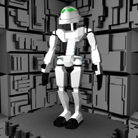 3d friendly robot character