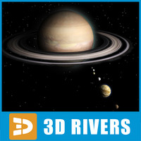 3d saturn planets model