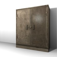 Low Poly Steel Cabinet 3d model