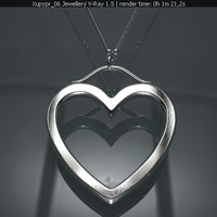 free pendant gold platinum 3d model