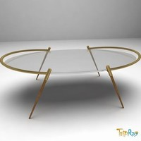 table magazine oval 3d model