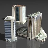 building hotel 3d model