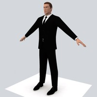male outfits body character 3d model