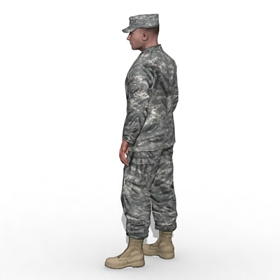 infantry soldier character 3d model - US Army Basic Infantry... by Camelot Inc