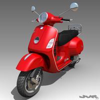 3d vespa gts motorcycle