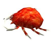 3d crab polys model