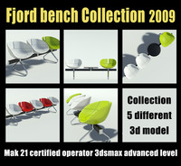 fjord bench 2009 3d model