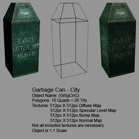 low-poly garbage obj
