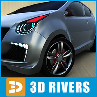 suzuki a-star concept 3d model