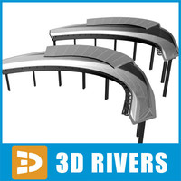 3d model bobsleigh track