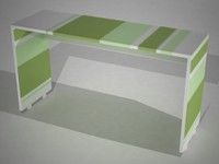 escritorio desk niños 3d model