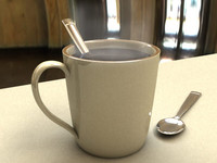 Mug and spoon