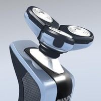 philips rq 1060 shaver 3d model