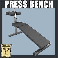 3d model bench press