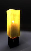 table lamp lighting 3d model