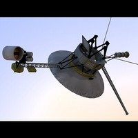 3ds max voyager 1 spacecraft