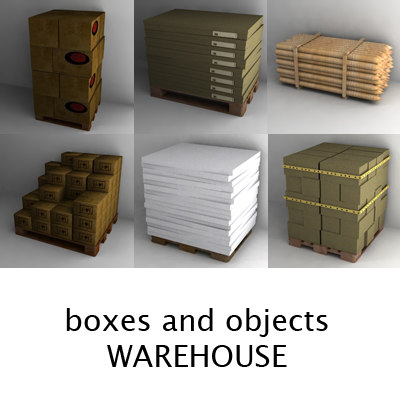 warehouse objects 3d obj - warehouse materials... by bescec