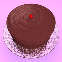 3ds max chocolate cake plate