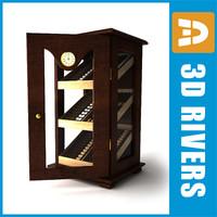 commercial humidor 3d model