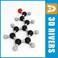cinnamaldehyde molecule structure 3d model