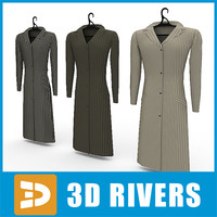 3ds max ladies coats set