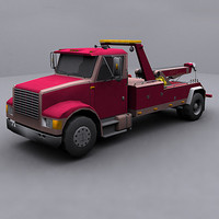 ready wrecker tow truck 3d model