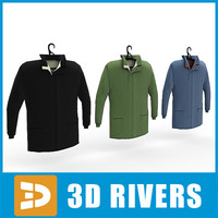 3d 3ds men jackets set