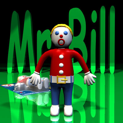 3d model mr bill rigged character Gumby And Pokey