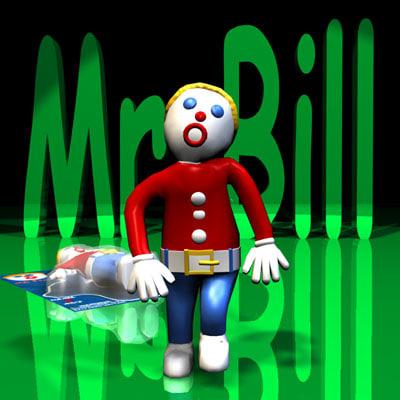 3d model mr bill rigged character