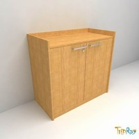 free office bookcase 3d model