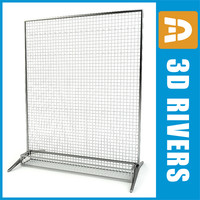 3d rack pegs type display model