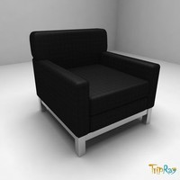 3d model chair armchair visitor
