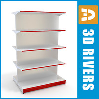 shelving shelf 3d model
