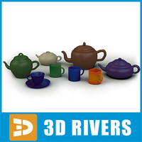 3d model set tableware