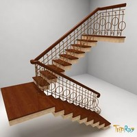 staircase stairs 3d 3ds