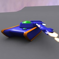 tank retron animation 3d model