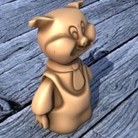pig statue 3d 3ds