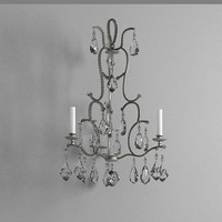 3d chandelier wall light