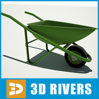 village wheelbarrow 3d model