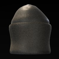 3d model hat winter