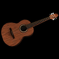 chitarra classica guitar 3d model