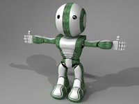 Robot 2 (Rigged & Animated)