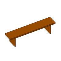 revit locker room bench 3d model