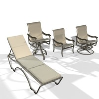 3d model patio chairs lounger