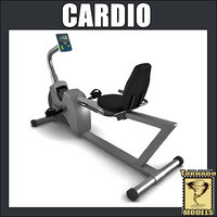 cardio bike 3d max