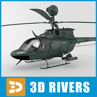 Helicopter OH-58D Kiowa Warrior by 3Drivers