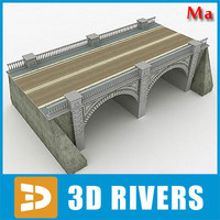 Arched stone bridge v1 by 3DRivers