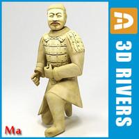 3d statue sitting model