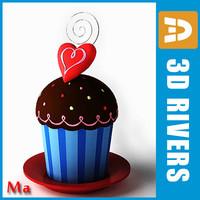 3d model saint valentine cake 02