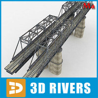 reinforced concrete bridge trains 3d ma